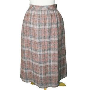 Vintage 1980's 100% Wool Union Made Skirt