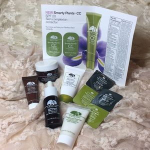 Full size and travel size origin skincare bundle