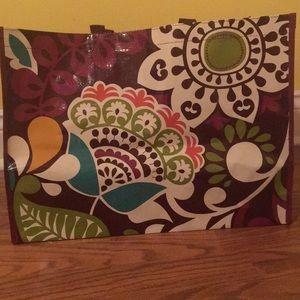 Large plastic Vera Bradley tote bag