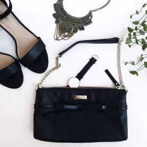 NWOT Authentic Kate Space Black Bow Purse