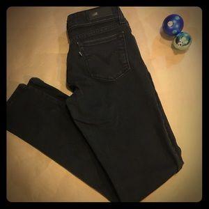 Levi's skinny jeans- black denim
