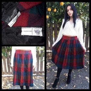 Gorgeous vintage I magnin wool pleated skirt!