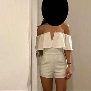 White off shoulder jumper