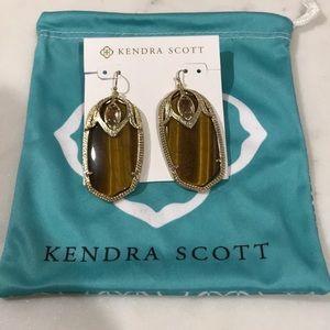 Kendra Scott Darby Drop Earrings In Tigers Eye