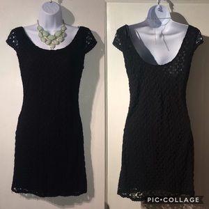 NWOT Mimi Chica Crochet Little Black Dress Small