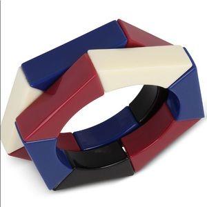 Iris X INC  2 Piece Acrylic Hexagon Bracelet Set