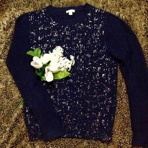 GAP Navy Blue w/ Silver Oversized Sweater