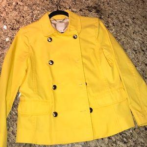 Jcrew yellow blazer - size 10 - worn once