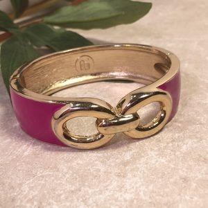 Banana republic Gold fuchsia pink hinge bracelet