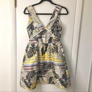 Tropical Patterned Cut Out Dress H&M Sz 4
