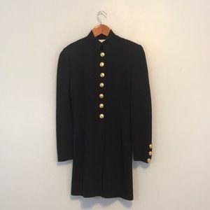 St. John Collection long knit blazer in black