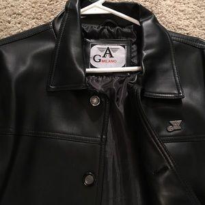 Armani leather blazon.