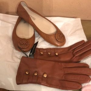 Michael Kors shoes and RL gloves