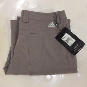 NWT Men's Adidas Golf Pants Dark Tan Color