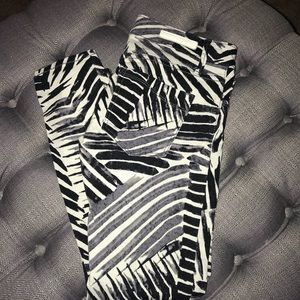 Low waisted Zebra Ankle Express Jeans