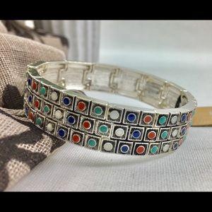 Squares stretch bracelet