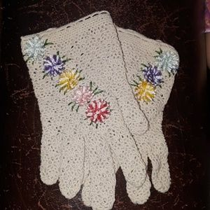 Gorgeous Vintage Crochet Gloves One Size