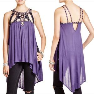 Free People Vision Quest Small Cutout Tunic Tank