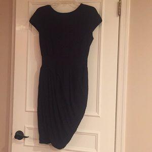 Giambattista Little Black rouched cotton dress