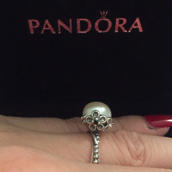 3effa2004 ... wholesale pearl flower pandora ring 5c8ba 6b684 ...