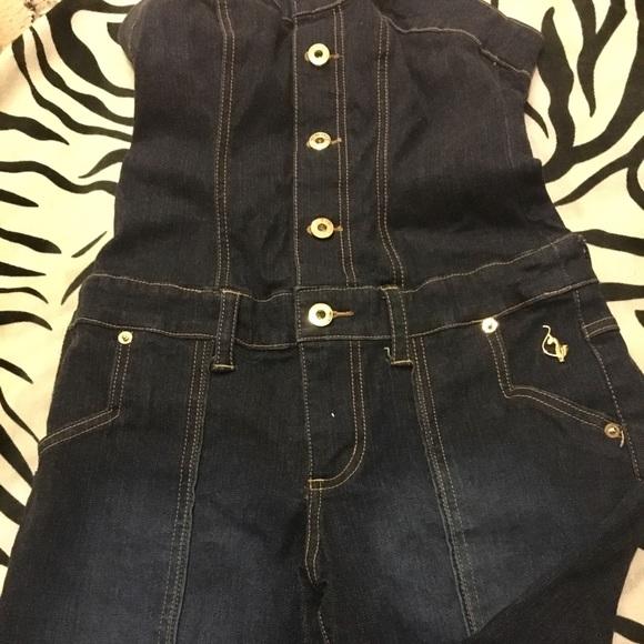 aaeb7107ea Baby Phat Denim - ⬇️Baby Phat denim jeans romper one piece capri