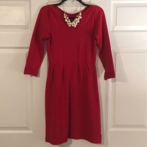 Holiday Red Sweater Dress
