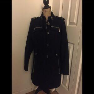 Dark Blue Wool Coat