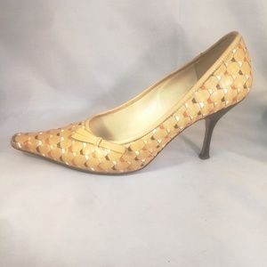 Prada Woven Women Size 36 Pointed Toe Pumps Heels