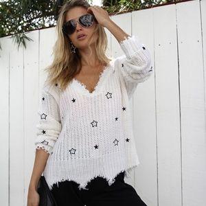Sweaters - Star Deep V Sweater