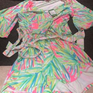 Madilyn Romper Royal Lime NWT