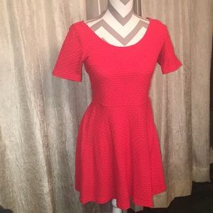 H&M Red Flare Dress