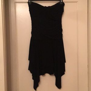 Black evening mini dress