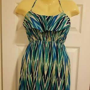 NWT Soprano Multi Color Maxi Dress