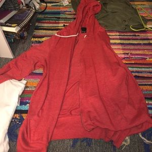Vurt red zip up sweater