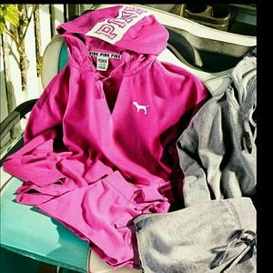 VS NWT PINK NATION SOFT SLOUCHY HOODIE PULLOVER S