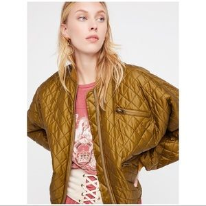 NEW Free People Easy Quilted Bomber XS MOSS