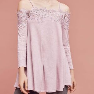 NEW Anthro x Meadow Rue Laceline Off shoulder top