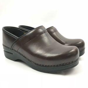 Dansko Shoes 37 Nursing Dark Brown Leather Slip On