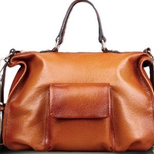 Genuine Leather Diaper Bag with Stroller Straps!!