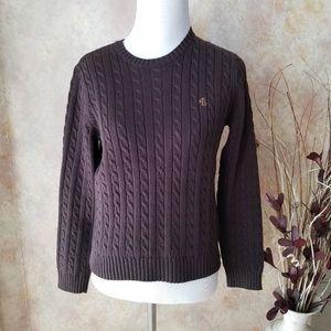 Ralph Lauren Brown Cable Sweater