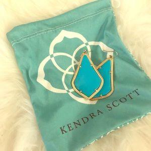 Kendra Scott turquoise Alexandra earrings