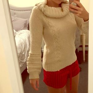 NWT Anthropologie Cream Sweater