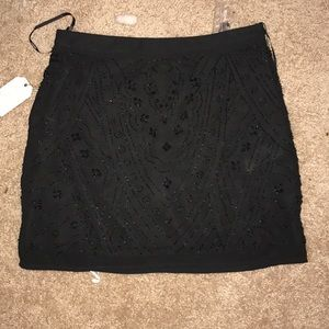 Black beaded mini skirt NYE