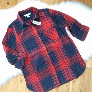 {Old Navy} classic flannel button down