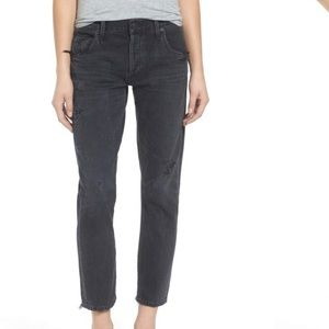 CITIZENS OF HUMANITY Corey slouchy slim black jean