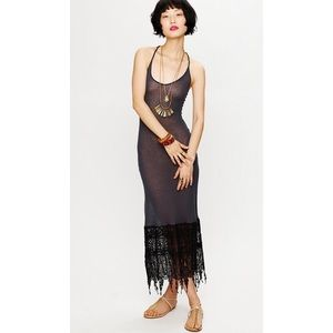 Free People Crochet Maxi Slip Dress