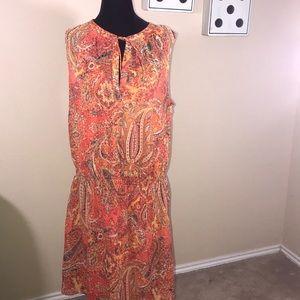 Orange paisley print Ralph Lauren dress