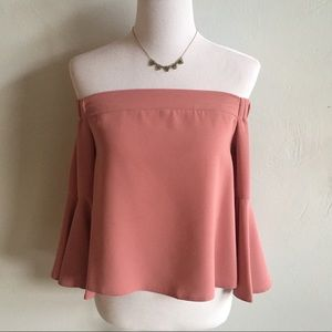 NWT Topshop Ella off shoulder blouse