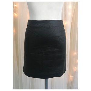 H&M Waxed Denim Mini Skirt