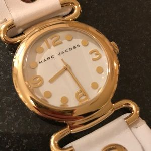 Marc Jacobs White & Gold Watch